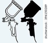 spray gun. isolated on blue... | Shutterstock .eps vector #396150289