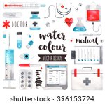 premium quality watercolor... | Shutterstock .eps vector #396153724