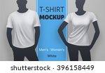 white t shirt mockup. vector... | Shutterstock .eps vector #396158449