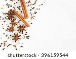 star anise  cinnamon sticks ... | Shutterstock . vector #396159544