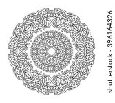 abstract ornament in circle.... | Shutterstock . vector #396164326