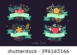 Set Of Beautiful Bouquets Of...