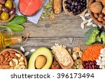 selection of food that is good... | Shutterstock . vector #396173494