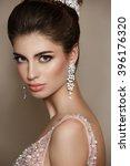 fashion model portrait in... | Shutterstock . vector #396176320