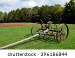 Horse Drawn Plow With Seat And...
