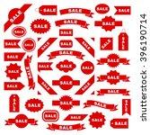 sale icon set  graphic design... | Shutterstock .eps vector #396190714