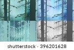 coniferous wood realistic... | Shutterstock .eps vector #396201628