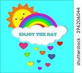 Vector Enjoy The Day. Positive...