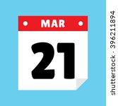 calendar icon flat march 21