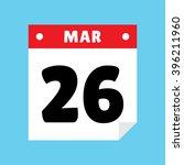 calendar icon flat march 26