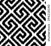 faux tribal fabric geometric... | Shutterstock .eps vector #396218140