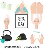 vector spa day elements. spa...   Shutterstock .eps vector #396229276