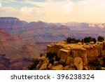 famous grand canyon at sunset   ...   Shutterstock . vector #396238324