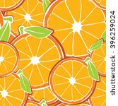 orange seamless wallpaper | Shutterstock .eps vector #396259024