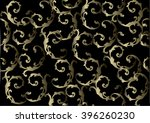 pattern with gold baroque... | Shutterstock .eps vector #396260230
