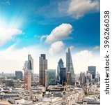 buildings of london. | Shutterstock . vector #396266038