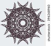 round pattern. circular... | Shutterstock .eps vector #396268960