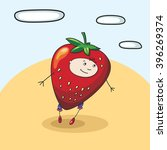 child strawberry smile vector | Shutterstock .eps vector #396269374