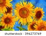 Sunflowers. Vincent Van Gogh...