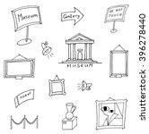set of hand drawn museum icons. ... | Shutterstock .eps vector #396278440