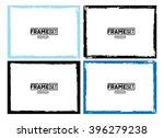 grunge frame texture set  ... | Shutterstock .eps vector #396279238