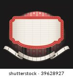 marquee with film strip banner  ... | Shutterstock .eps vector #39628927