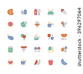 food flat bold vector icons 3   Shutterstock .eps vector #396297064