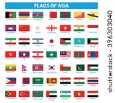 flags of asia | Shutterstock .eps vector #396303040