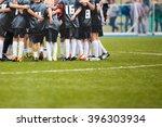 youth soccer football team... | Shutterstock . vector #396303934