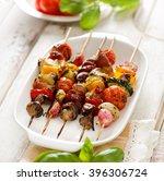Grilled Skewers Of Vegetables...