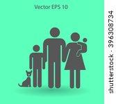 family vector icon | Shutterstock .eps vector #396308734