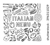 restaurant cafe italian menu.... | Shutterstock .eps vector #396311029