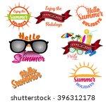 summer design elements and... | Shutterstock .eps vector #396312178