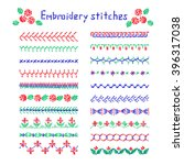 elements of folk embroidery ... | Shutterstock .eps vector #396317038