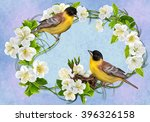 Two Bright Yellow Birds On The...