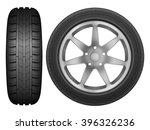 car wheel rim tire on a white... | Shutterstock .eps vector #396326236