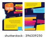 business concept layout for... | Shutterstock .eps vector #396339250