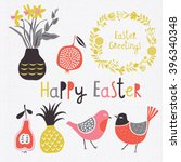 happy easter day. easter design ... | Shutterstock .eps vector #396340348