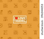 travel concept seamless orange... | Shutterstock .eps vector #396344053