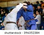 judokas fighters during fight... | Shutterstock . vector #396352384
