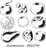 black and white lineart...   Shutterstock . vector #3963799