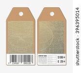 vector tags design on both... | Shutterstock .eps vector #396395014