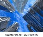 corporate buildings in... | Shutterstock . vector #39640525