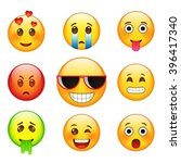 facial expressions emotions ... | Shutterstock .eps vector #396417340