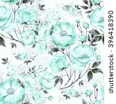 seamless pattern of wild rose z.... | Shutterstock . vector #396418390