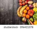 composition with assorted raw... | Shutterstock . vector #396421378