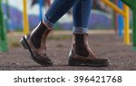 beautiful shoes and jeans... | Shutterstock . vector #396421768