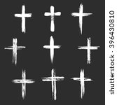 grunge christian cross icons.... | Shutterstock .eps vector #396430810