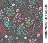 seamless floral pattern. vector ... | Shutterstock .eps vector #396431638