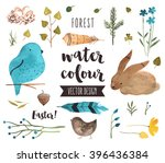 premium quality watercolor... | Shutterstock .eps vector #396436384